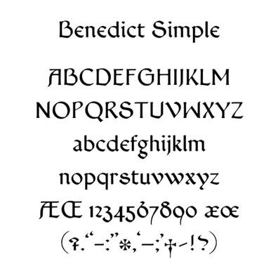 BENEDICT SIMPLE TYPEFACE ~ DANIEL MITSUI