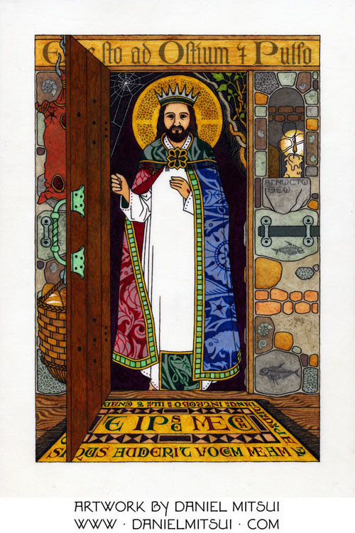 Jesus christ at the door drawing by daniel mitsui jesus christ at the door altavistaventures Gallery