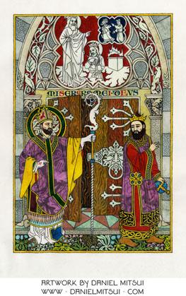 ST. AMBROSE REBUKES THEODOSIUS