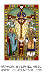 JESUS CHRIST with ST. JOSEPH and AARON