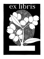 OLIVES BOOKPLATE